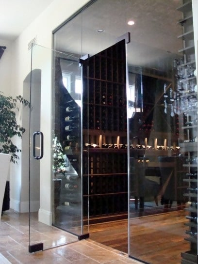 Custom wine cellar doors here!
