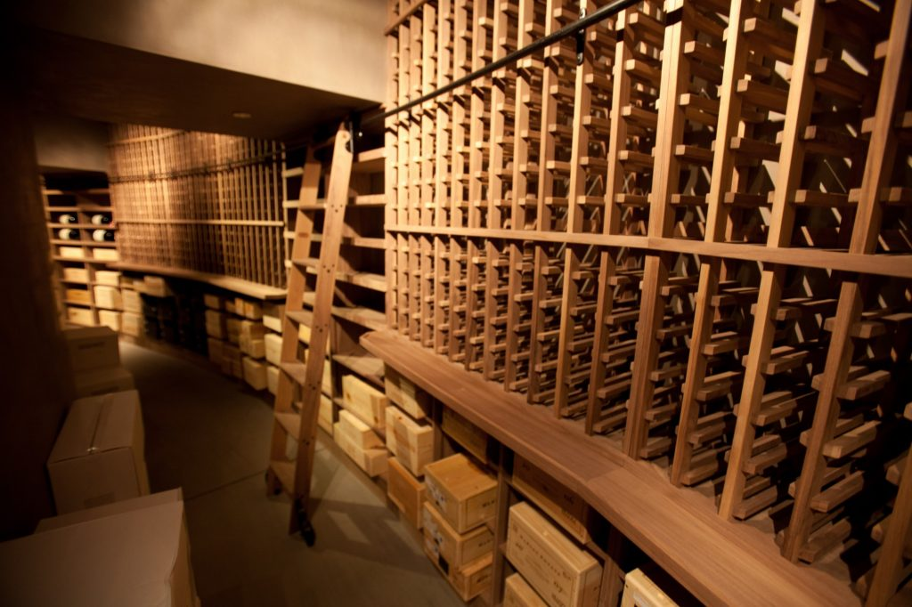 Commercial Custom Wine Cellar Design with Wooden Wine Racks by Las Vegas Nevada Experts