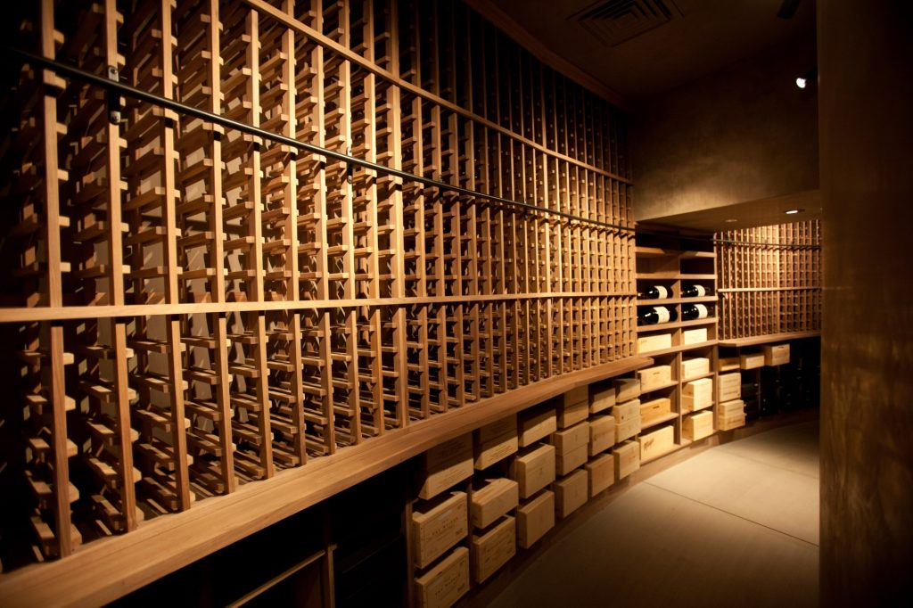 Commercial Custom Wine cellar Design Created by Master Builders in Las Vegas, Nevada, for Marciano Winery