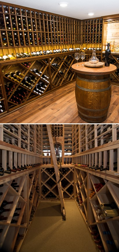 Wine Racks Designed for a Stylish and Organized Home Custom Wine Cellar in Las Vegas