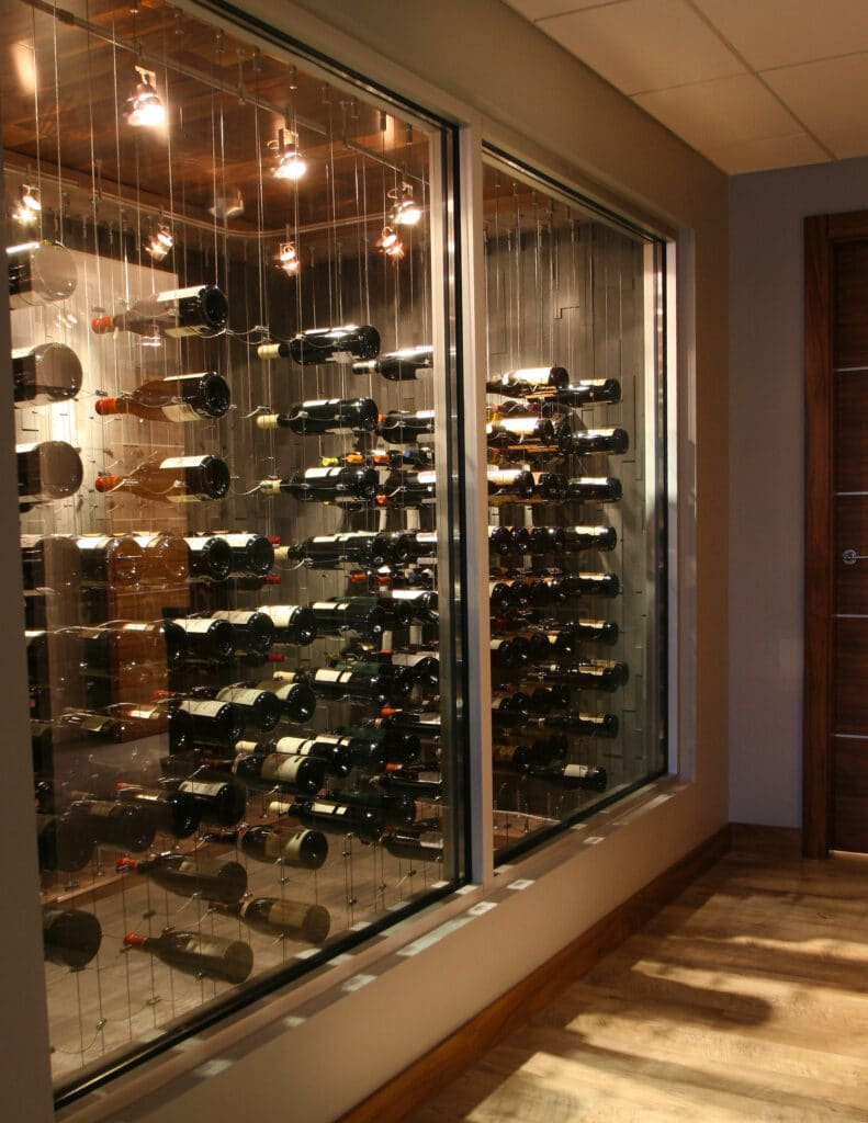 See more modern design cellars here!